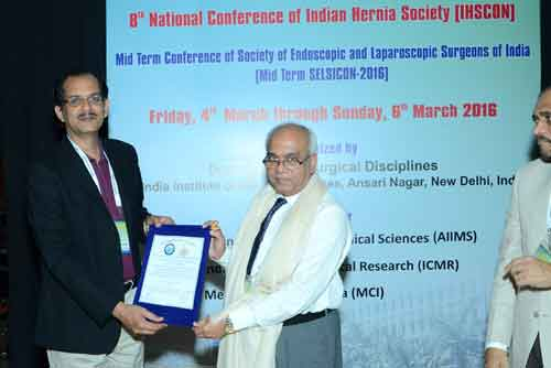 Dr Padmakumar - Best Hernia Surgeon in India Selected as National President of Indian Hernia Society