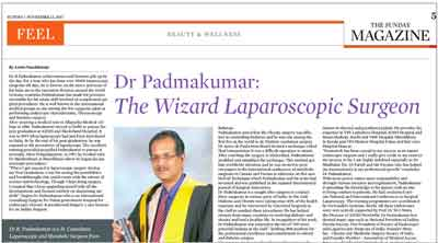Best Laparoscopic Surgeon in India in Indian Express